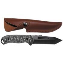 FoX Outdoor Kampfmesser mit Lederscheide 22,5 cm