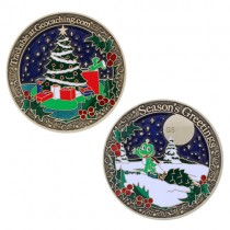 "Geocoin ""Season's Greetings"""
