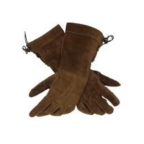 Battle Merchant Wildlederhandschuhe für LARP Braun