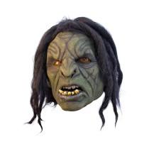 Battle Merchant Ork-Maske Grün mit Haaren