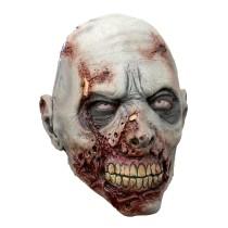 Battle Merchant Zombie-Maske Grau mit Narben