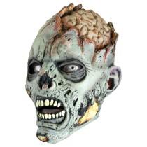 Battle Merchant Zombie Maske Grau