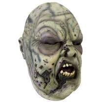 Battle Merchant Zombie Maske Grau/Grün