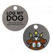 "Travel Bug Tag ""Log my Dog"""