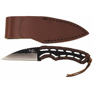 "FoX Outdoor Messer ""Büffel II"" Griff mit Lederband 18cm"