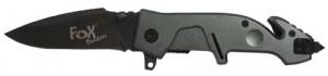 FoX Outdoor Einhand-Klappmesser mit Gurtschneider 24 cm