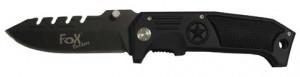 FoX Outdoor Einhand-Klappmesser mit Zackenrücken 23,5 cm