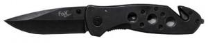 FoX Outdoor Einhand-Klappmesser mit Gurtschneider 20,5 cm