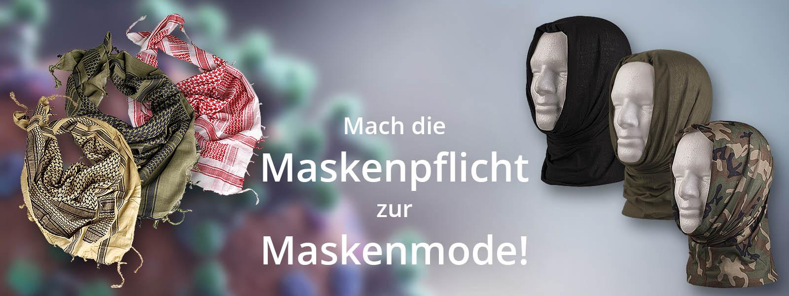 Masken für die Maskenpflicht